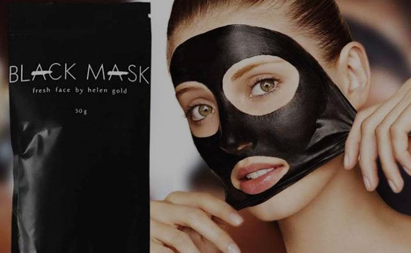 как наносить черную маску.