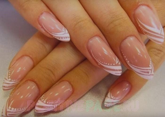 миндалевидная форма ногтей.