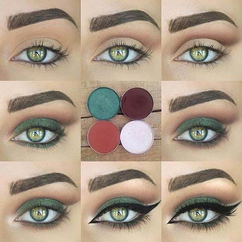 макияж для зеленых глаз пошагово фото