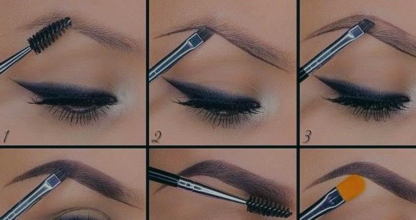 нарисовать брови карандашом.