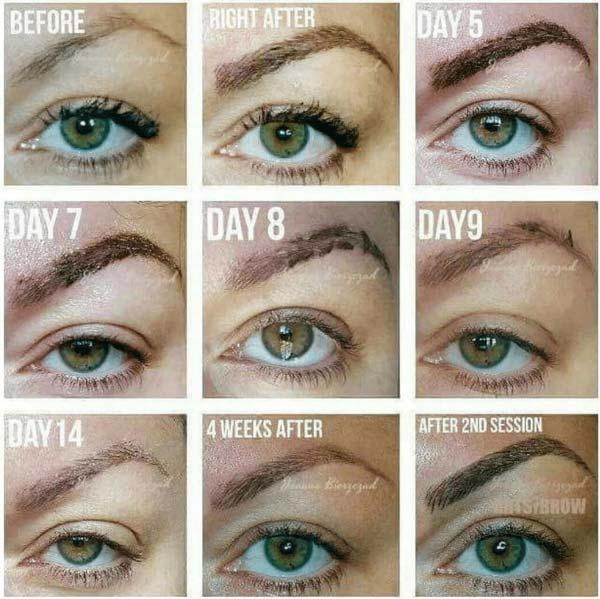 заживление после перманентного макияжа по дням
