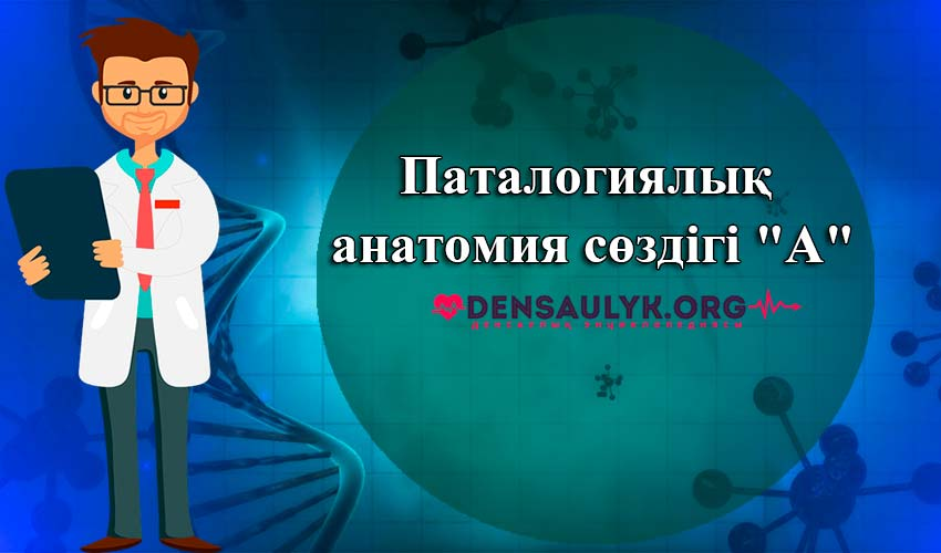 """Паталогиялық анатомия сөздігі """"А"""""""